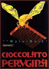 Chocolate Perugina 1930 Italian Advertising Vintage Poster Print Retro Decor Art