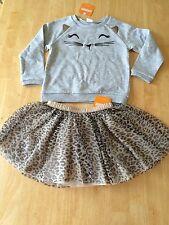 NWT Gymboree Catastic Cat Leopard Tulle Tutu Skirt Set Toddler/kid Girls