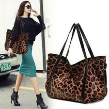 Leopard Print real Leather Single Shoulder Bag Tote Bag Handbag Large Purse size