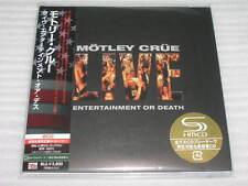 Motley Crue Live: Entertainment Or Death JAPAN mini lp SHM 2 CD SEALED