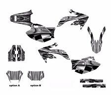 CRF450X 450X Graphics Sticker kit 2005 - 2015 #2001 Gray Metal