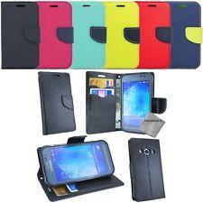 Housse etui coque portefeuille Samsung G389F Galaxy Xcover 3 VE + verre trempe