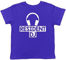 Resident DJ Childrens Kids Boys Girls Tee T-Shirt