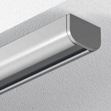 GARDUNA Schleuderschiene Gardinenschiene Vorhangschiene, Aluminium, silber