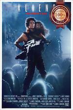 NEW ALIENS RIPLEY HOLDING GUN GIRL 1986 ORIGINAL MOVIE FILM PRINT PREMIUM POSTER
