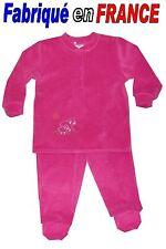 Pyjama velours à pieds  2 pièces de 2 ans à 8 ans (rose bonbon) NEUF - GHIMI