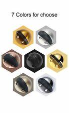 NonPunching Sticker Hidden Steel Rubber Door Stopper Holders Catch Floor Mounted