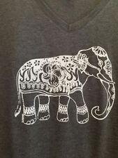 Elephant ladies V-neck tri blend tee shirt.