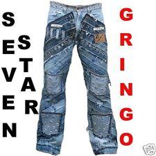 Seven Star gringo tachuelas Pocket Clubwear Rockstar Denim Handmade jeans g 36/32