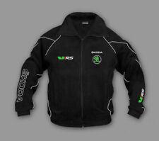 Neu Herren Fleece Jacke Skoda vRS Octavia,Fabia Motorsport, Gestickte, gr.S-XXXL