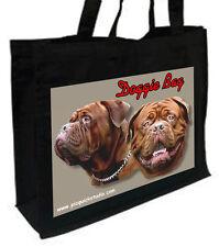Dogue de Bordeaux Cotone Shopping Bag, scelta di colori, Nero, Crema,