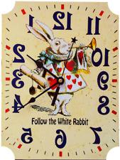 White Rabbit Clock Alice in Wonderland Herald
