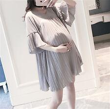 Vestito Corto Premaman con Pieghe - Mini Dress Maternity Wear MWD005