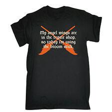 Il mio angelo ali sono nel negozio di riparazione T-shirt girocollo Divertente Regalo Regalo di Natale