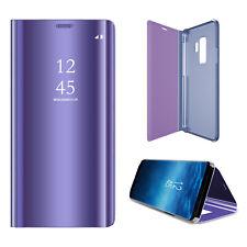 Samsung S9 PLUS Flip Case Schutzhülle Clear View Cover mit 9H Panzerglasfolie