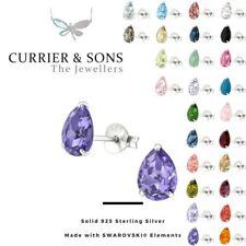 LA CRYSTALE 925 Sterling Silver Pear Stud Earrings with SWAROVSKI® Elements