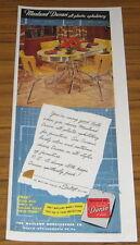 1951 Vintage Ad Masland Duran All-Plastic Upholstery 50's Chrome Dining Set