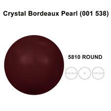 CRYSTAL BORDEAUX PEARL (001 538) Genuine Swarovski 5810 Round *All Sizes