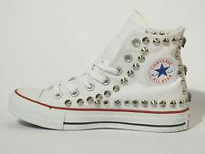 Converse all star Hi borchie teschi  scarpe donna uomo nero vintage artigianali