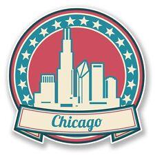 2 x Chicago Illinois USA America Vinyl Sticker Laptop Travel Luggage Car #6747