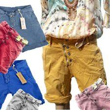 5d4073b06b2539 Melly   Co Damen Shorts Jeans Hose rosa blau grau rot gelb kurze Capri M L  S Neu
