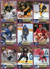 2002-03 UPPER DECK FOUNDATIONS NHL HOCKEY CARD 1 TO 167 SEE LIST