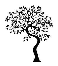Tree Silhouette Handmade Cross-Stitch Pattern Chart