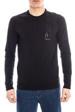 T-shirt Maglietta Armani Jeans AJ Sweatshirt -50% Uomo Nero A6H08DA-12 SALDI