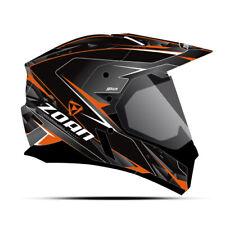 Zoan Synchrony Duo-Sport Hawk Black Orange Dual Lens Adventure Snowmobile Helmet