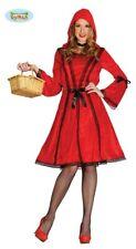 Rotkäppchen Kapuzenkleid Halloween Kostüm für Damen rotes Kleid Kapuze Gr. M-L