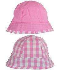 babyprem Bebé Niña Rosa Reversible Sol Sombrero Verano Edad 6-12 & 12-18 meses