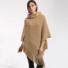 Women Poncho Stole Cape Shrug Wrap Shawl Jacket Jumper Sweater Hoodie Hood Top