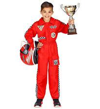 Widmann Rennfahrer Overall Anzug Kostüm Kinder Jungen Mädchen Verkleidung rot