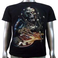 Vampire Electric Acoustic Bass Guitar Rock Star Music Tee Mens T-shirt XL & XXL