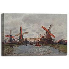 Monet mulini a vento design quadro stampa tela dipinto telaio arredo casa