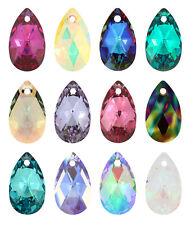 Genuine SWAROVSKI 6106 Pera Forma a Goccia Cristallo Ciondoli * Più Colori e Taglie
