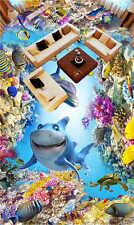Happy Sea World 3D Floor Mural Photo Flooring Wallpaper Home Printing Decoration