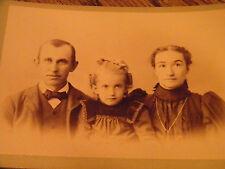 VINTAGE CABINET CARD FAMILY PHOTO  RIPPEL'S STUDIO SUNBURY PA.