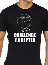 Sfida accettata MEME Troll Divertente T Shirt