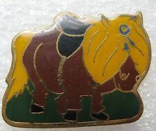 Pin's  Poney Petit Cheval rigolo avec grosse Criniére #1600