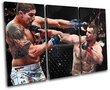 MMA Mirko CroCop Filipovic Sports TREBLE CANVAS WALL ART Picture Print VA