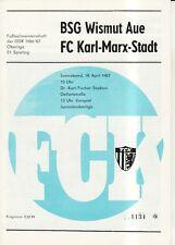 OL 86/87 FC Karl-Marx-Stadt - BSG Wismut Aue