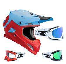 Thor Sector Level Casco Cross Motocross MX Azul Rojo Two-x Race Gafas de