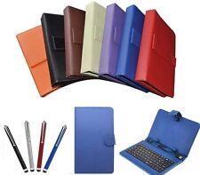 """9"""" Pulgadas Funda Cuero de PU teclado USB para Android Tablet PC vendedor GB"""