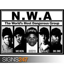NWA- ICE CUBE DR DRE GANGSTA RAP (1063)  Picture Poster Print Art A0 A1 A2 A3 A4