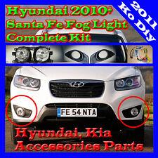 Fog Lamp Light Complete Kit For 2010 2011 2012 Hyundai Santa fe (Wiring Harness)