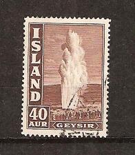 ICELAND # 206 Used GEYSER