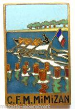 Insigne Marine CFM MIMIZAN type I émail Edet Paris CENTRE de FORMATION