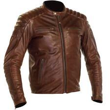 Richa Daytona 2 Marrone Classico Casual Moto Motocicletta in pelle Giacca Moto