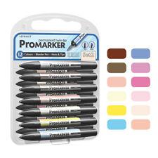 Letraset Promarker Pen 12 Pen + Blender - Set 2 - PMT2